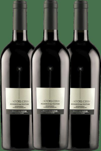Confezione-vantaggio da 3 bottiglie - Piano del Cerro Aglianico del Vulture DOC 2018 - Vigneti del Vulture