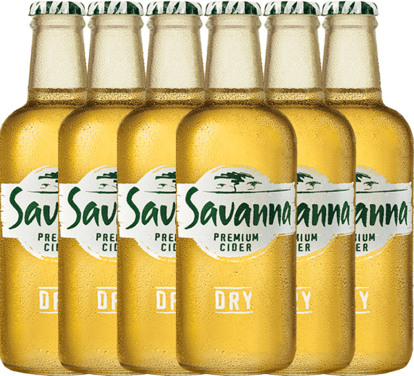 Confezione-vantaggio da 6 bottiglie - Savanna Premium Dry Cider - Savanna