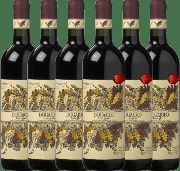 Confezione-vantaggio da 6 bottiglie - Dogajolo Toscano Rosso IGT 2018 - Carpineto