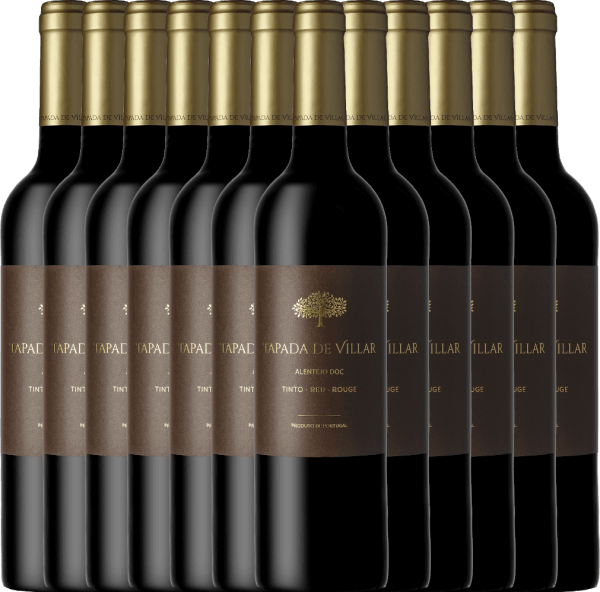 Confezione-vantaggio da 12 bottiglie Tapada de Villar Tinto 2019 - Quinta das Arcas