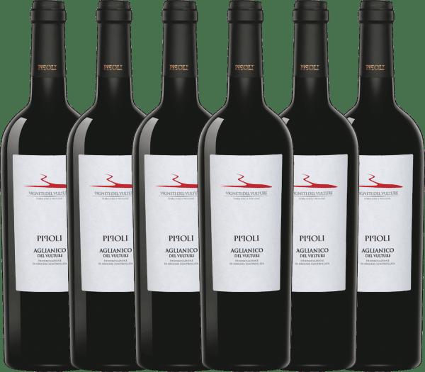 6er Vorteils-Weinpaket - Pipoli Aglianico del Vulture DOC 2018 - Vigneti del Vulture