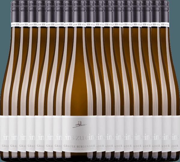 Confezione-vantaggio da 18 bottiglie - Grauer Burgunder eins zu eins Kabinett 2020 - A. Diehl
