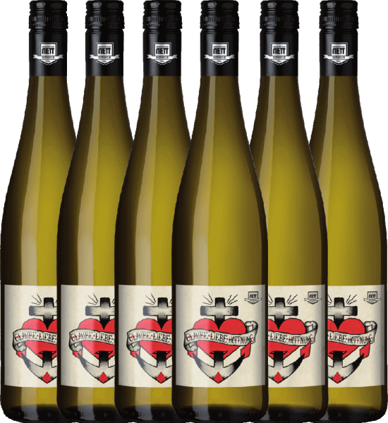 Confezione-vantaggio da 6 bottiglie - Glaube-Liebe-Hoffnung Riesling 2019 - Bergdolt-Reif & Nett
