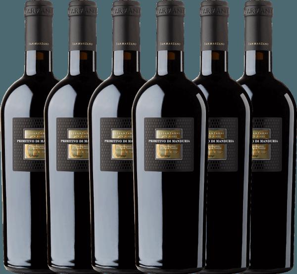 Confezione-vantaggio da 6 bottiglie - Sessantanni Primitivo di Manduria DOC 2017 - Cantine San Marzano