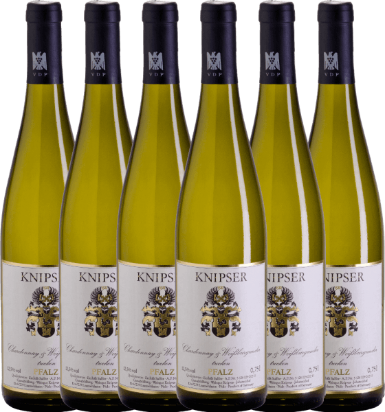 Confezione-vantaggio da 6 bottiglie - Chardonnay & Weißburgunder 2019 - Knipser