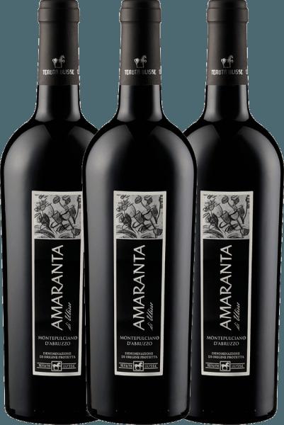 Confezione-vantaggio da 3 bottiglie - AMARANTA Montepulciano d'Abruzzo DOC 2018 - Tenuta Ulisse