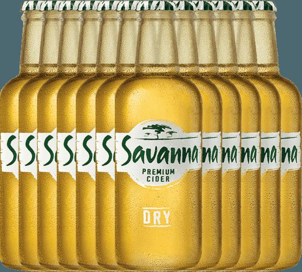 Confezione-vantaggio da 12 bottiglie - Savanna Premium Dry Cider - Savanna