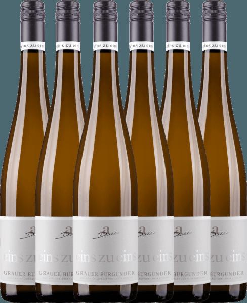 Confezione-vantaggio da 6 bottiglie - Grauer Burgunder eins zu eins Kabinett 2020 - A. Diehl