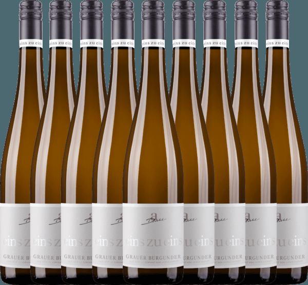 Confezione-vantaggio da 9 bottiglie - Grauer Burgunder eins zu eins Kabinett 2020 - A. Diehl