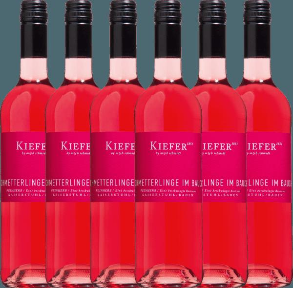 Confezione-vantaggio da 6 bottiglie - Schmetterlinge im Bauch Rosé 2020 - Weingut Kiefer