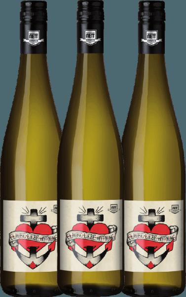 Confezione-vantaggio da 3 bottiglie - Glaube-Liebe-Hoffnung Riesling 2019 - Bergdolt-Reif & Nett