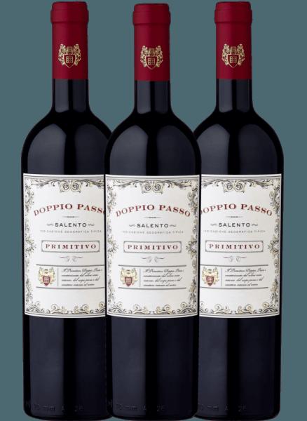 Confezione-vantaggio da 3 bottiglie - Doppio Passo Primitivo Salento 2020 - CVCB