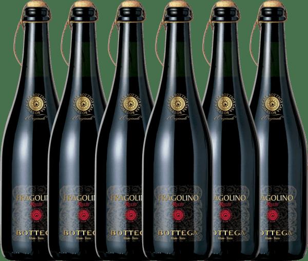 Confezione-vantaggio da 6 bottiglie - Fragolino Rosso Frizzante - Bottega