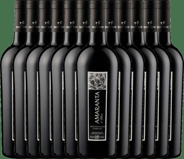 Confezione-vantaggio da 12 bottiglie - AMARANTA Montepulciano d'Abruzzo DOC 2018 - Tenuta Ulisse