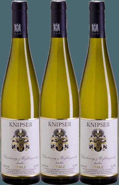 Confezione-vantaggio da 3 bottiglie - Chardonnay & Weißburgunder 2019 - Knipser