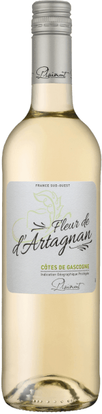 Il Fleur de d'Artagnan Blanc Côtes de Gascogne di Plaimont è un vino bianco fresco della Guascogna, nel sud della Francia, che accarezza il naso con i suoi meravigliosi aromi di agrumi e note floreali. Nuances di frutta gialla come mele e pere ma anche delicate sfumature erbacee di melissa completano il bouquet del Fleur de d'Artagnan Blanc. Al palato, il bianco Fleur de d'Artagnan Cuvée delizia con un fine equilibrio tra una vivace acidità di frutta e una delicata dolcezza residua, che dà a questo vino bianco francese una perfetta bevibilità. Un vino bianco meravigliosamente semplice per 1.000 occasioni. Vinificazione del Fleur de d'Artagnan Blanc di Plaimont Questa cuvée di vino bianco è vinificata da 80% Colombard e 20% Ugni Blanc. Le uve provengono da vigneti del Gers, il cuore della Guascogna. Dopo la raccolta, le uve vengono diraspate, pigiate e il mosto viene pressato delicatamente dopo un breve periodo di riposo. La fermentazione avviene poi con lieviti coltivati in purezza in vasche d'acciaio inox a temperatura controllata, dando al vino la sua freschezza e fruttuosità. La serie di vini Fleur de d'Artagnan della cantina Plaimont comprende vini di straordinaria freschezza, chiarezza e fruttuosità con un onesto carattere di vitigno. Nel fare ciò, l'attenzione è soprattutto sui vitigni regionali. I vini spiritosi sono un impressionante monumento al famoso moschettiere d'Artagnan, il cui ritratto adorna l'etichetta. Raccomandazione per il Fleur de d'Artagnan Blanc Godetevi questo vino bianco secco di Guascogna con insalate croccanti, piatti di pesce leggeri o asparagi.