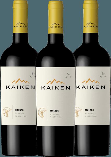 Confezione-vantaggio da 3 bottiglie - Kaiken Malbec 2019 - Viña Kaiken