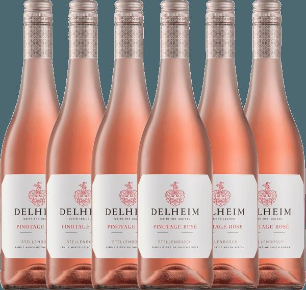 Confezione-vantaggio da 6 bottiglie - Delheim Pinotage Rosé 2020 - Delheim