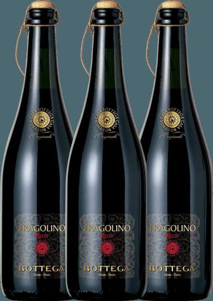 Confezione-vantaggio da 3 bottiglie - Fragolino Rosso Frizzante - Bottega