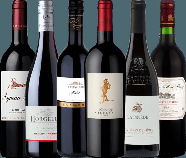 Pacchetto-scoperta da 6 bottiglie – Vini rossi di Francia