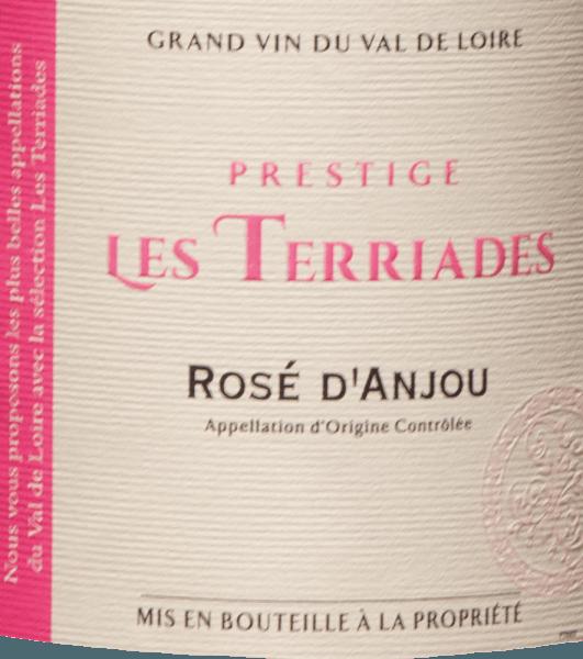 Il Rosé d'Anjou Les Terriades AOC di Les Caves de la Loire è un vino rosato fruttato della Francia fatto con i vitigni Groslot e Gamay. Nel bicchiere brilla rosa pallido con riflessi violacei. Al naso, questo rosé presenta un bouquet con aromi di frutti di bosco, lampone, fragola selvatica e uva spina, con leggere note speziate in sottofondo. Fresco e succoso al palato con frutta piena e una dolcezza delicata, elegante ed equilibrato. Raccomandazione per il Rosé d'Anjou Les Terriades di Les Caves de la Loire Questo fruttato vino francese della Valle della Loira è raccomandato come aperitivo con antipasti leggeri, con dessert alla frutta o con piatti esotici.