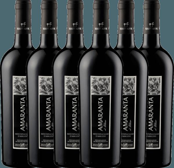 Confezione-vantaggio da 6 bottiglie - AMARANTA Montepulciano d'Abruzzo DOC 2018 - Tenuta Ulisse