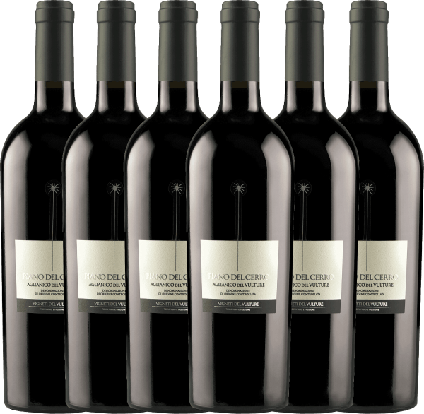 Confezione-vantaggio da 6 bottiglie - Piano del Cerro Aglianico del Vulture DOC 2018 - Vigneti del Vulture