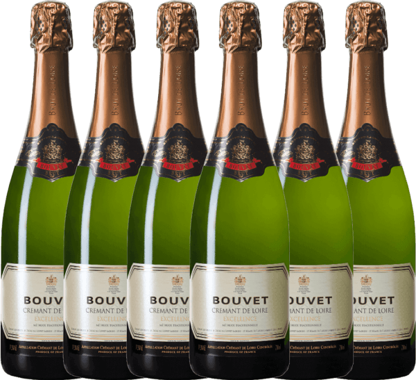 Confezione-vantaggio da 6 bottiglie - Crémant Brut Blanc Excellence - Bouvet Ladubay