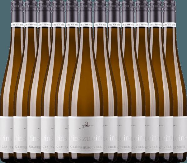 Confezione-vantaggio da 12 bottiglie - Grauer Burgunder eins zu eins Kabinett 2020 - A. Diehl