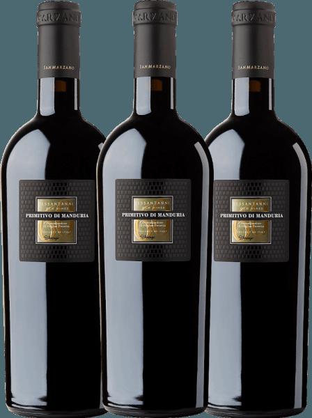 Confezione-vantaggio da 3 bottiglie - Sessantanni Primitivo di Manduria DOC 2017 - Cantine San Marzano