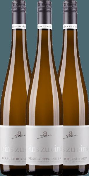Confezione-vantaggio da 3 bottiglie - Grauer Burgunder eins zu eins Kabinett 2020 - A. Diehl