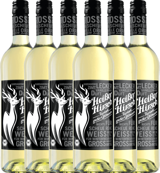 Confezione-vantaggio da 6 bottiglie - Weißer Bio-Glühwein - Heißer Hirsch