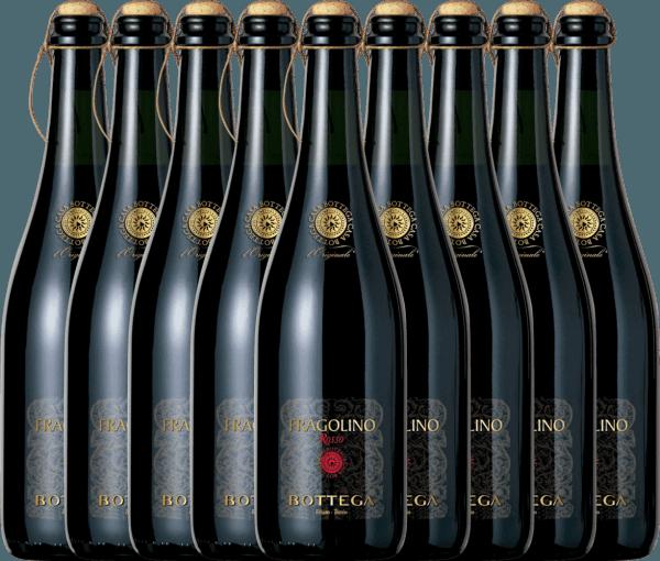 Confezione-vantaggio da 9 bottiglie - Fragolino Rosso Frizzante - Bottega