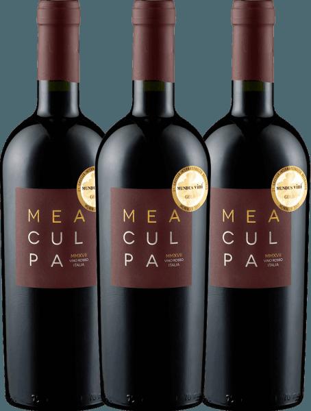 Confezione-vantaggio da 3 bottiglie - MEA CULPA Vino Rosso Italia - Cantine Minini